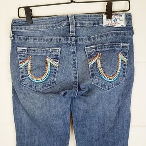True Religion Rainbow Pocket Bootcut Jeans
